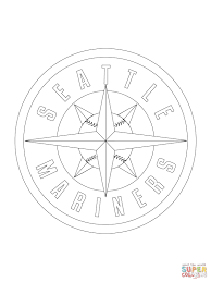 seattle mariners logo coloring page free printable coloring pages