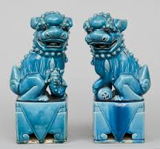 product pair turquoise foo dogs