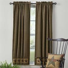 primitive country farmhouse curtains