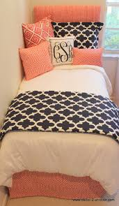 Guest Bedroom Ideas With Twin Beds Coral And Navy Dorm Bedding Set Top Dorm Room Design Ideas