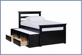 Black Twin Bed Twin Bed With Trundle And Storage Drawers To Keep Your Things