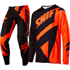 motocross gear set shift 2017 new mx 3lack label mainline black orange motocross gear