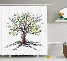 Shower Curtain With Tree Design Shower Curtain Music Tree Creative Design Abstract Artwork 84