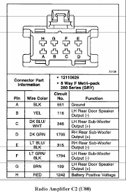 2000 ssei bose amp wiring diagram gm forum buick cadillac