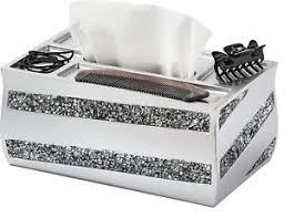 decorative tissue box decorative tissue box cover napkins container rectangular silver