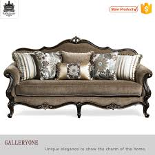 Wooden Frame Couch Royal Office Furniture Antique Gold Wood Frame Chesterfield