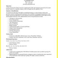 job resume sample business analyst keywords samples performance