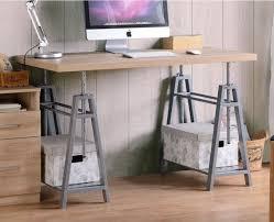 office furniture standing desk adjustable modern standing desk adjustable sawhorse industrial table home