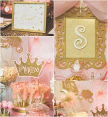 1st birthday party decorations at home pink and gold princess by treat me sweet candy buffets birthday
