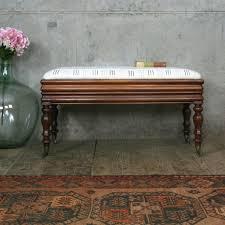 mahogany mud cloth duet piano stool pedlars