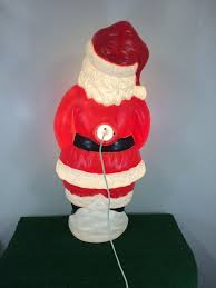 vintage santa blow mold lawn yard christmas decor decoration