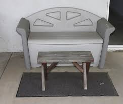 rubbermaid bench with storage norcal online estate auctions estate sales lot 59