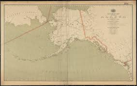Maps Of Alaska by Post Route Map Of The Territory Of Alaska With Adjacent Parts Of
