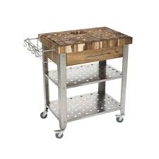 Chris  Chris Pro Stadium Stainless Steel Kitchen Cart With - Kitchen cart table