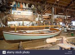 a boat building workshop at the chesapeake bay maritime museum in