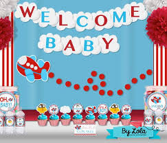 airplane baby shower decorations airplane aviator baby shower party package package