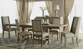 Stone Dining Room Table Hudson Stone Wash Rectangular Extendable Trestle Dining Table From