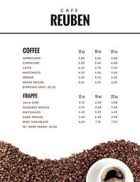 coffee shop menu template coffee shop menu templates canva