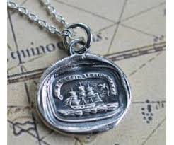 wax seal jewelry ship wax seal necklace muse american handcrafted