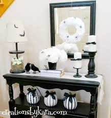 Halloween Decor Home by Black And White Halloween Decor