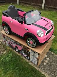 pink mini cooper nearly new kids pink mini cooper electric ride on car in