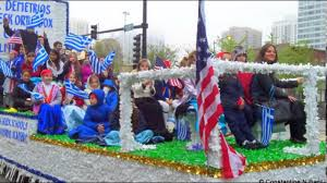 thanksgiving day parade in chicago greek independence day parade chicago floats 2017 youtube