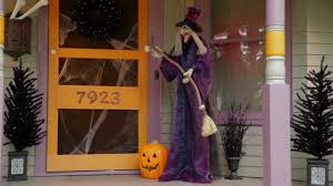 6 ft animated standing halloween witch improvements catalog