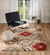 Modern Abstract Rugs Summit Gulistan 2731 Beige Floral Transitional Area Modern