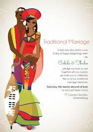 wedding invitations johannesburg south zulu traditional wedding invitation card