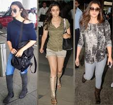 celebrities with their flight traveling dressing styles looksgud in