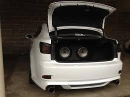 lexus is350 trunk ca fs 2 jl 12w1v2 sub trunk set up 07 2is headlight clublexus