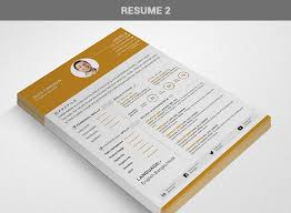 free professional resume cv template in 3 different color with