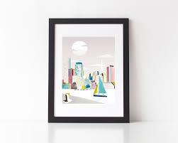 boston print boston art prints ma skyline wall home decor