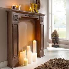 Wohnzimmer Deko Kerzen Kamin