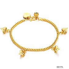 gold bracelet chain styles images Arrival fashion 18k gold plated bracelet heart wholesale new jpg