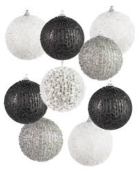 formally yours black and white christmas ornament set treetopia