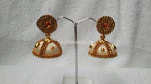kerala style jhumka earrings silk thread jhumkas earrings fashionous