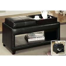 ottoman square ottoman with flip top tray storage ottoman with
