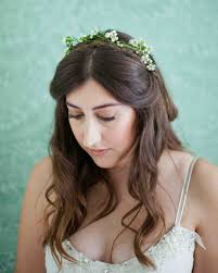 flower for hair 33 ways to wear your hair for your wedding martha stewart