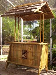 outdoor bar with stone walls and wicker stool ideas memorable