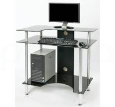 Cheap Computer Desks Uk Glass Computer Desk Black Frosted Clear Glass Desks Tables