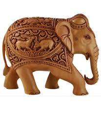 kraft mart brown wood carving elephant showpieces buy kraft mart