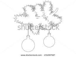 white line christmas tree vectors download free vector art