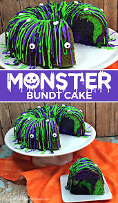 Halloween Bundt Cake Decorations by Halloween Monster Bundt Cake Kitchen Fun With My 3 Sons
