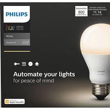 Phillips Go Light Philips Hue A19 Smart Led Starter Kit White Smart Lights