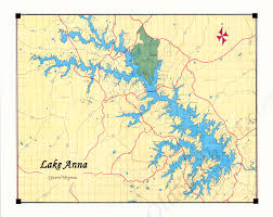Map Of Central Virginia by Lake Anna Map