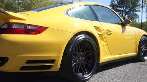 how fast is a porsche 911 turbo 2007 porsche 911 turbo for sale speed yellow custom rims one owner