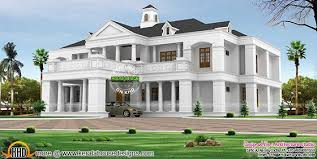 Colonial Home Designs Pillar Type Sloping Roof Colonial Home Plan Kerala Home Design
