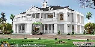 Kerala Home Design 3000 Sq Ft Pillar Type Sloping Roof Colonial Home Plan Kerala Home Design