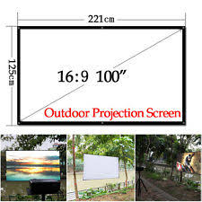 Backyard Projector Screen by Portable Projector Screens Ebay